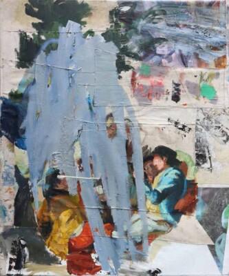 Vicky Neumann - 2017 - Jugadores de Naipes (Goya) - Mixta sobre tela - 147x122cm