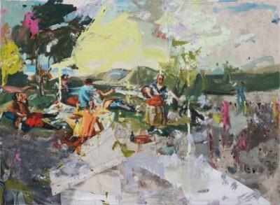 Vicky Neumann - 2017 - La Merienda 1 (Goya) - mixta sobre tela - 145x200cm