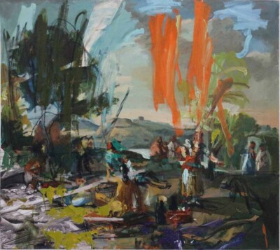 Vicky Neumann - 2017 - La Merienda 2 (Goya) - Mixta sobre tela - 161x180cm