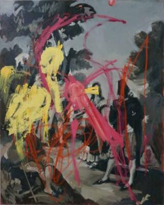 Vicky Neumann - 2017 - Maja y Embozados 1 (Goya) - Mixta sobre tela - 162x130cm