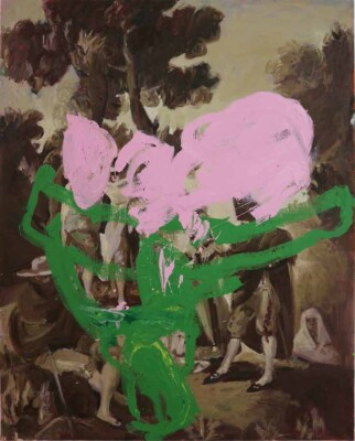 Vicky Neumann - 2017 - Maja y Embozados 2 (Goya) - Mixta sobre tela - 162x130cm