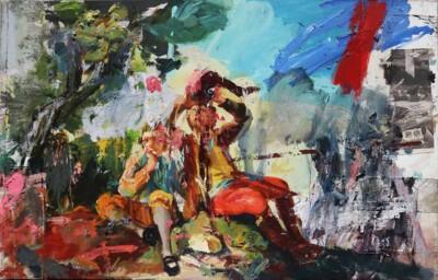 Vicky Neumann - 2017 - Niño (Goya) - Mixta sobre tela - 167x266cm